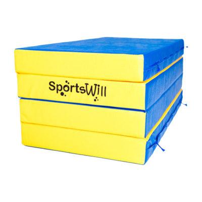 Мат SportsWill (200 х 100 х 10) скл син