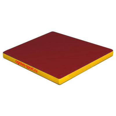 Спортивный-мат-Огниво-спорт-100-х-100-х-10-красн-желтый