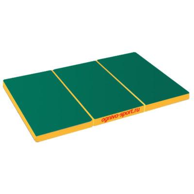 Спортивный-мат-Огниво-спорт-складной-150-х-100-х-10-зелено-желтый