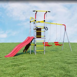 Детский спортивный комплекс для дачи ROMANA Островок Плюс качели цепные