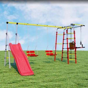 Детский спортивный комплекс для дачи ROMANA Богатырь Плюс качели цепные