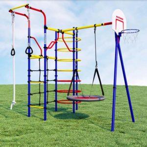 Детский спортивный комплекс для дачи ROMANA Космодром (качели-гнездо)