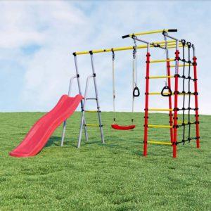 Детский спортивный комплекс для дачи ROMANA (пластиковые качели)