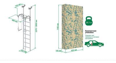 Шведская стенка ROMANA R5 Kometa схема