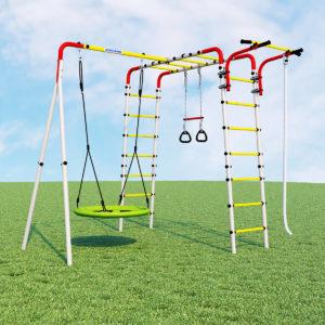 Детский спортивный комплекс для дачи ROMANA Веселая лужайка - 2 (качели гнездо)