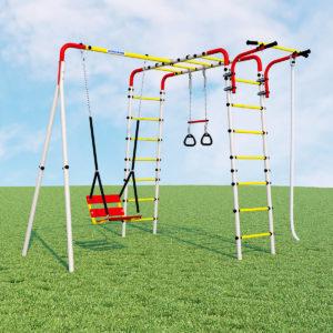 Детский спортивный комплекс для дачи ROMANA Веселая лужайка - 2 (качели цепные)