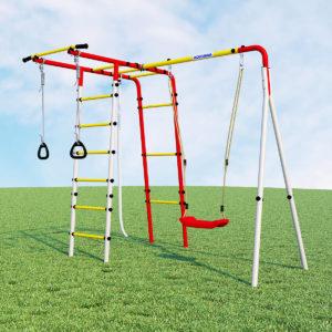 Детский спортивный комплекс для дачи ROMANA Лесная поляна - 3 (качели пластиковые)