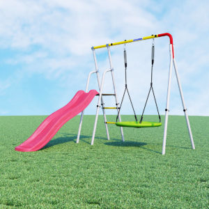 Детский спортивный комплекс для дачи ROMANA Лето (качели гнездо)