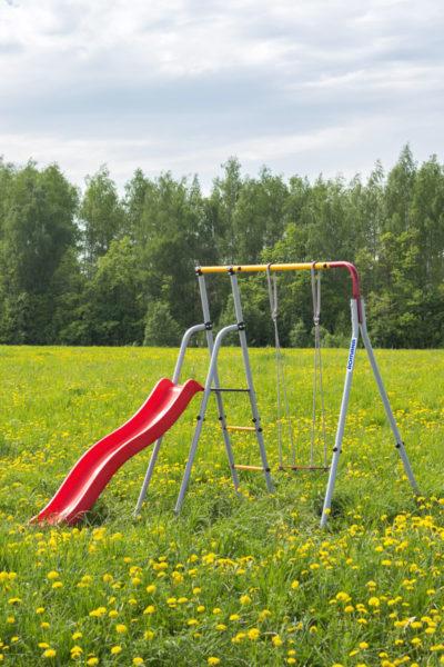 Детский спортивный комплекс для дачи ROMANA Лето (качели гнездо)_3