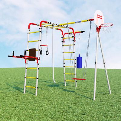 Детский спортивный комплекс для дачи ROMANA Fitness (качели пластиковые)