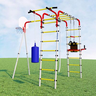 Детский спортивный комплекс для дачи ROMANA Fitness (качели пластиковые)_1