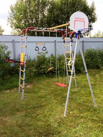 Детский спортивный комплекс для дачи ROMANA Fitness (качели пластиковые)_3