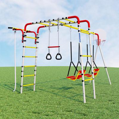 Детский спортивный комплекс для дачи ROMANA Акробат - 2 (качели цепные)1