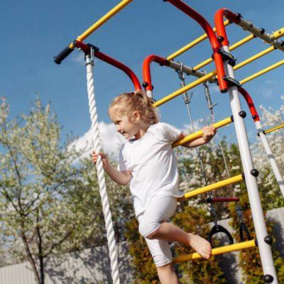 Детский спортивный комплекс для дачи ROMANA Акробат - 2 (качели лодка)_2