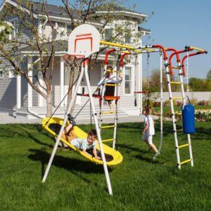 Детский спортивный комплекс для дачи ROMANA Fitness (качели лодка)_1