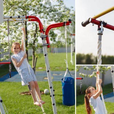 Детский спортивный комплекс для дачи ROMANA Fitness (качели лодка)_3