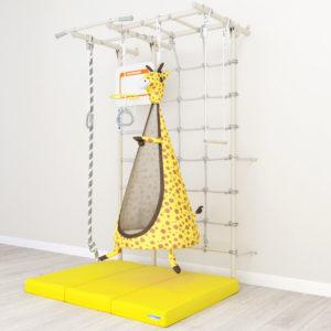 Комплект ROMANA S7(Pastel) Щит баскетбольный Мат 1000 1500 100 в 3 сложения желтый ROMANA Гамак Жираф