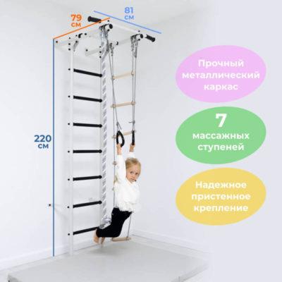 """DSK Пристенный """"Чемпион"""" (с черными массажными ступенями)"""